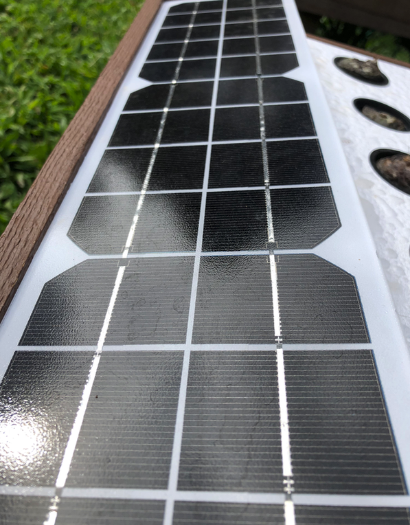 solar power panel for outdoor hydroponic system